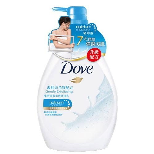 多芬Dove滋養柔膚沐浴乳-溫和去角質1000ml【愛買】