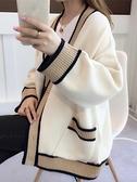 毛衣外套 針織衫開衫女士毛衣2021年新款女裝寬松外穿冬季百搭加厚上衣【快速出貨八折鉅惠】