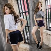 運動套裝-夏季運動套裝女跑步運動服三件套大碼韓版寬鬆健身房瑜伽服女顯瘦 降價兩天