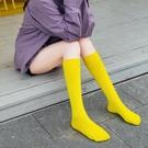 2雙丨小腿襪女高筒襪子女中筒襪純棉長筒襪糖果彩色夏季【慢客生活】