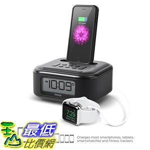 [106美國直購] iHome iPL23V2 Stereo FM Clock Radio with Lightning Connector and USB Charging Black
