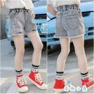 女童韓版中大童夏季外穿百搭薄款牛仔短褲【奇趣小屋】