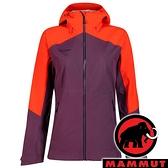 【MAMMUT 長毛象】Convey 女 GT單件式連帽外套『黑莓紫/辛辣紅』1010-27850 外套 冬季 保暖 禦寒
