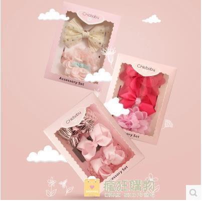 嬰兒髮飾頭飾花髮帶髮夾女寶寶正韓兒童禮盒公主髮卡頭花