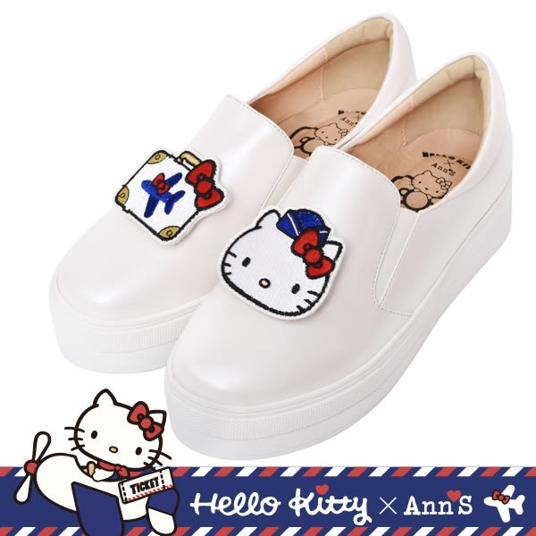 Ann'S-HELLO KITTY 厚底懶人鞋