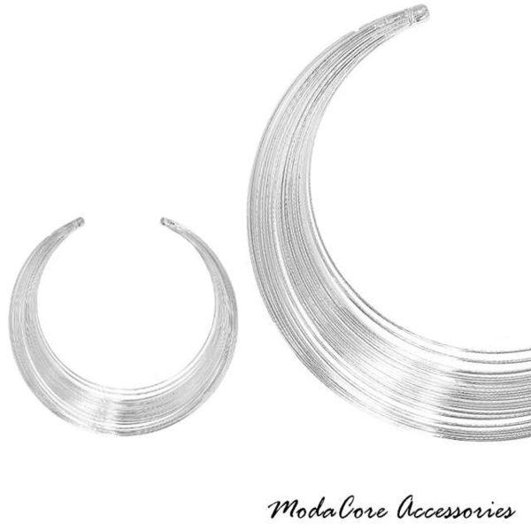 【摩達客】簡約線圈風尚銀色項鍊 (28915001009)