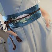 腰封/腰帶 新品復古民族風繡花腰封綁帶裝飾連身裙女裝腰帶