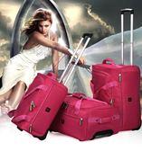 全館免運八折促銷-正韓大容量男女旅行包拉桿包折疊牛津布手提行李包袋防水手提包jy