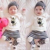 寶寶秋裝套裝男0—1-3歲嬰幼兒秋季童裝運動兩件套女嬰兒衣服春秋 艾美時尚衣櫥