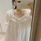 純棉睡裙女夏季薄款短袖甜美公主風睡衣【大碼百分百】