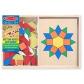 《 美國 Melissa & Doug 》 益智-幼兒幾何積木-10面拼板,120 pcs / JOYBUS歡樂寶貝