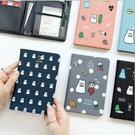 護照夾 護照套 護照包 護照收納包 韓國可愛小幽靈功能護照包 護照長夾 皮夾 推薦【D1022】
