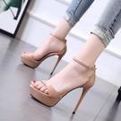 促銷全場九折 高跟鞋女細跟9夏季新款女涼鞋防水臺超高跟12CM時尚露趾女鞋