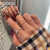 簡約百搭食指戒甜美指環戒指時尚組合套裝戒指女個性潮【奇妙商鋪】