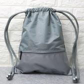 束口袋 束口袋抽繩雙肩包男女通用戶外旅行背包防水輕便折疊運動健身包袋  瑪麗蘇