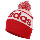【折後$600】ADIDAS LINEAR WOOLIE 愛迪達 毛線 毛帽 毛球 男女 紅白 DM1409