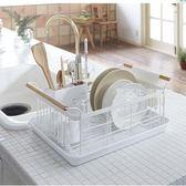 瀝水架 日式鐵藝碗架筷子瀝水架廚房餐具置物架收納盤子瀝晾洗濾放碗筷盒·夏茉生活