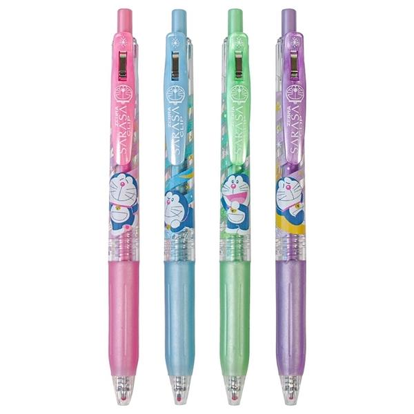 耀您館 日本ZEBRA哆啦A夢SARASA珠光CLIP夾式4色1.0mm原子筆組860 2140 06小叮噹機能筆圓珠筆