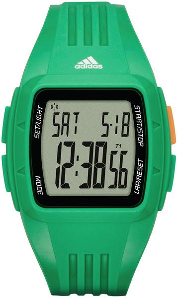【時間道】 [adidas。錶]格子遊戲 坦克休閒電子錶-綠膠 (ADP3236)免運費