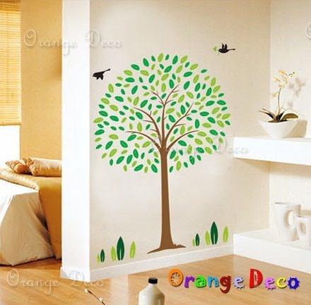 壁貼【橘果設計】大樹 DIY組合壁貼/牆貼/壁紙/客廳臥室浴室幼稚園室內設計裝潢