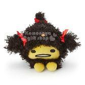 〔小禮堂〕蛋黃哥 絨毛玩偶娃娃《S.黑黃.狗》擺飾.玩具 4901610-05802