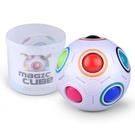 智力魔方 玩具兒童減壓初學者異形彩虹球創意手指三階寶寶足球魔方【快速出貨八折鉅惠】