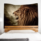 北歐風動物背景布ins床頭掛布客廳裝飾壁...