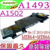 A1493 電池(原裝等級)-蘋果 APPLE  A1502,Pro 13吋,A1493,A1502-2875,MGX72xx/A,MGX82xx/A,MGX92xx/A,MGX72LL