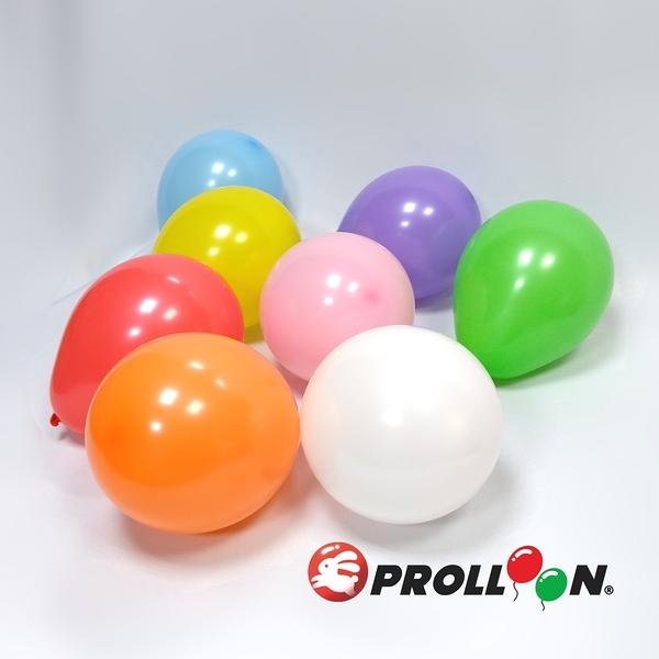 【大倫氣球】9吋圓形氣球 隨機混色 100入裝 STANDARD & CRYSTAL BALLOONS 台灣製造 無毒
