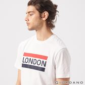 【GIORDANO】男裝UNION JACK系列短袖T恤-19 標誌白