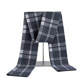 羊毛圍巾-針織提花英倫風格子男披肩3色73wh56[時尚巴黎]
