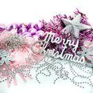 聖誕裝飾配件包組合~銀紫色系 (8尺(2...
