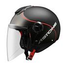 【東門城】ASTONE CJ500 - LL10 彩繪(平光黑/紅) 3/4半罩式安全帽