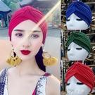 沙漠防風帽子 波西米亞異域風情嬉皮風頭巾帽 印度民族風包頭帽 伊芙莎