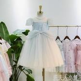 女童洋裝新款冰雪奇緣公主裙超洋氣六一兒童節生日禮服紗裙「錢夫人小鋪」