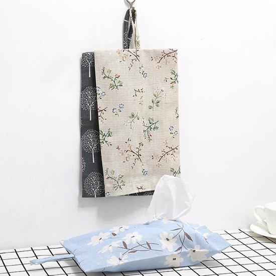 掛袋 衛生紙 面紙盒 抽紙盒 紙巾袋 隨身 濕紙巾 ZAKKA 布藝 可掛式棉麻面紙套【X021-1】米菈生活館