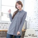 【UFUFU GIRL】直紋排釦襯衫款,穿搭簡約都會風!
