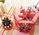 收納盒 旋轉收納 木質收納盒 化妝品收納 木質 木製DIY化妝品旋轉收納盒【R002】生活家精品