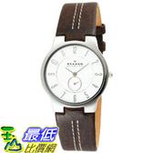 [美國直購 ShopUSA] Skagen Men's Slim Brown Leather Watch #433LSL1 $3394