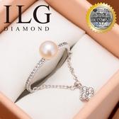 (零碼)【美國ILG鑽飾】Pearl 妳的價值 錘鍊設計 -頂級美國ILG鑽飾,媲美真鑽亮度的鑽飾 RiS08