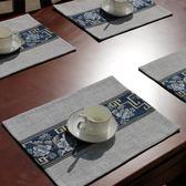 棉麻布藝西餐墊杯墊碗墊盤墊美式新中式餐桌布藝亞麻餐巾布隔熱墊【onecity】