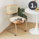 椅子 會議椅 餐椅 椅 工作椅【Z0101】Grace 極簡韓風藤編鐵腳椅(無扶手款)1入 完美主義