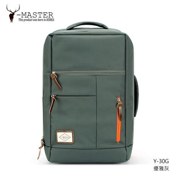 Y-MASTER|城市探險 Y-30G (優雅灰) - 17吋筆電相機後背包