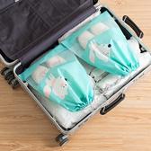 ◄ 生活家精品 ►【P293】便攜式防塵束口袋(大) 透明櫥窗 整理包 旅遊 出國 洗漱用品 毛巾
