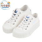 《布布童鞋》KangaROOS袋鼠白色帆布兒童經典餅乾鞋休閒鞋(16~22公分) [ W0R389M ]