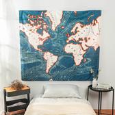 樂嫚妮 裝飾掛毯-地圖 ins風背景掛布掛毯-地圖