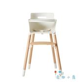 寶寶安全餐椅兒童餐椅多功能成長型實木餐椅【奇趣小屋】