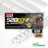 機車兄弟【RK 金色特殊強化鏈條(無油封) GB520KXZ X 120L】
