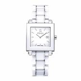FENDI 典雅時尚陶瓷腕錶/白/30mm/622140