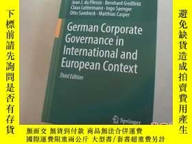 二手書博民逛書店german罕見corporate governance in